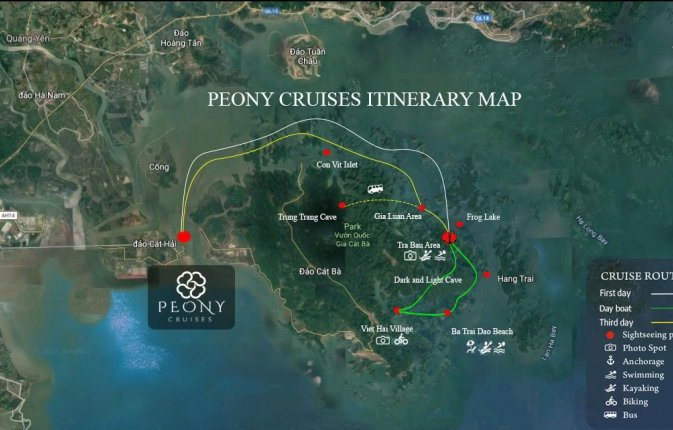 Peony Cruises 2 days 1 night